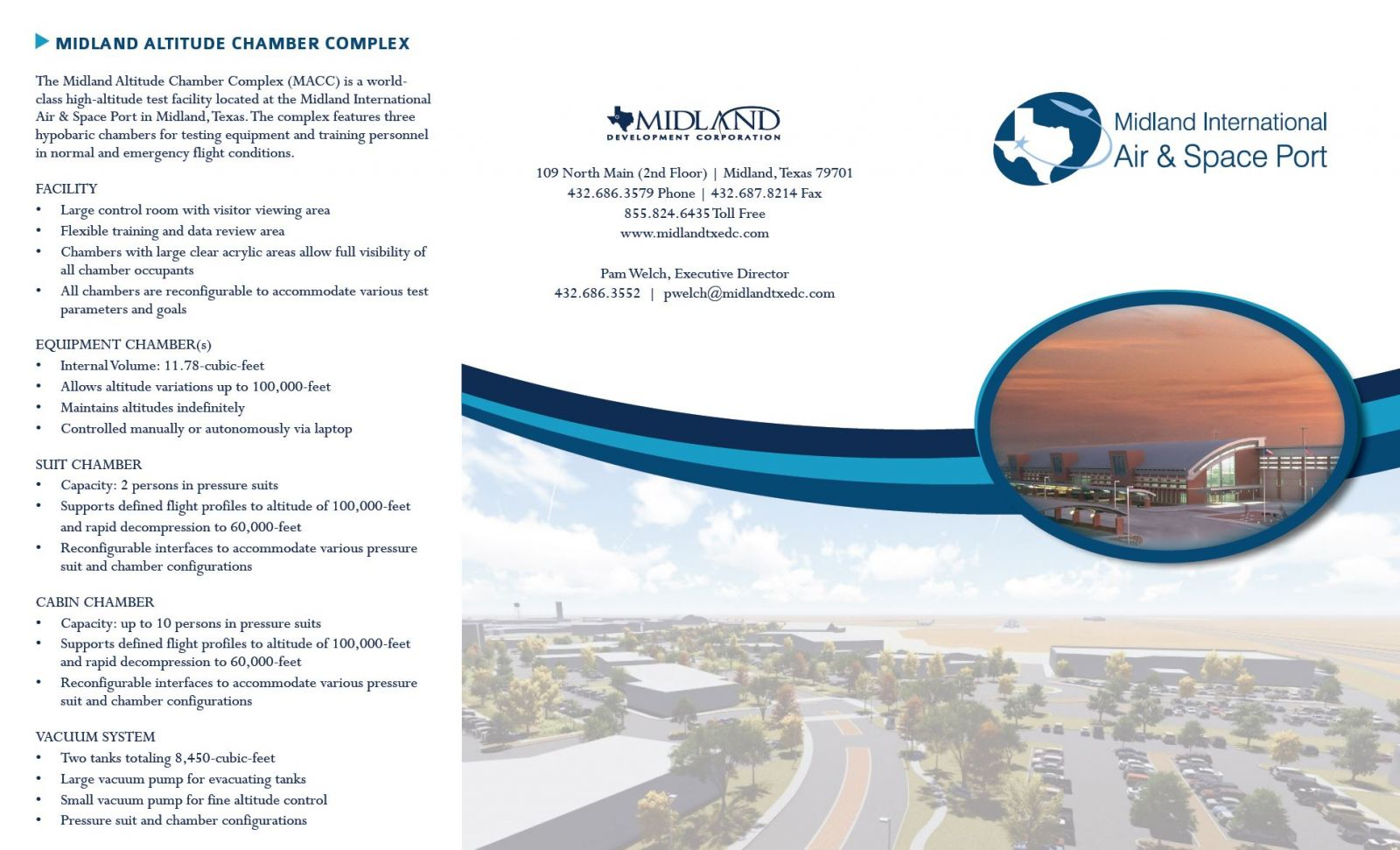 Thumbnail Image For Midland Spaceport Tri Fold Brochure PDF - Click Here To See