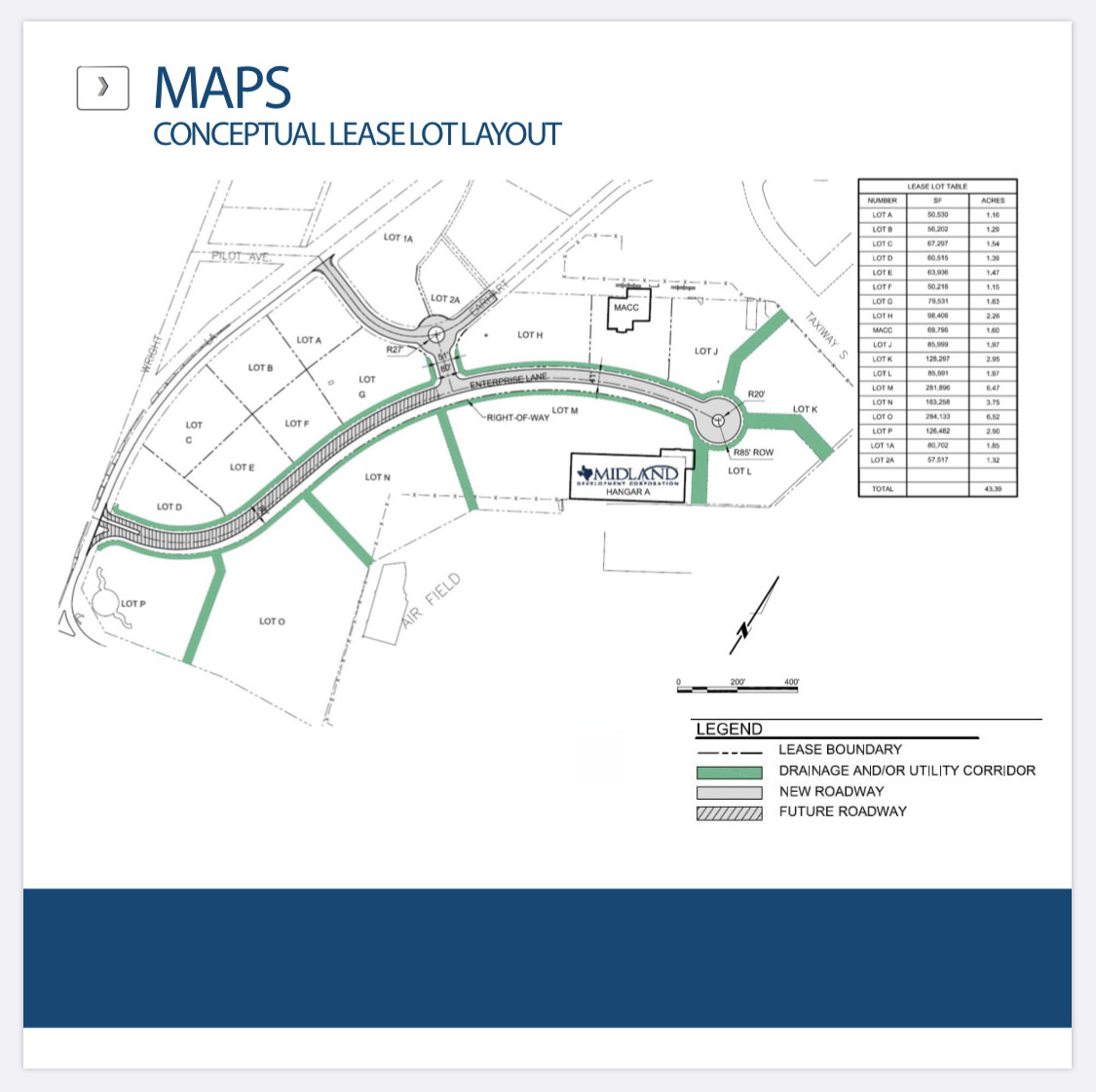 lease lot layout map